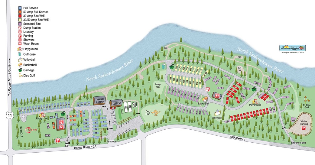 riverview campground campsite map